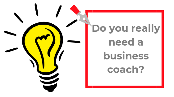 Blog image: do you really need a business coach (with light bulb as image)